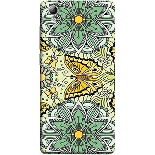 FUSON Designer Back Case Cover For Vivo Y51 :: Vivo Y51L (Vintage Floral Seamless Pattern With Roses Leaves )