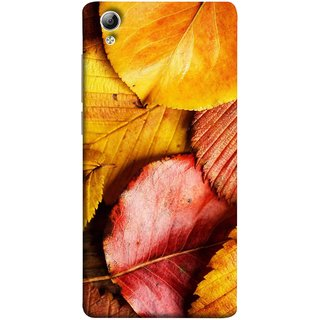FUSON Designer Back Case Cover For Vivo Y51 :: Vivo Y51L (Multicolour Dry Leaves Painting Bright Sunny Day )