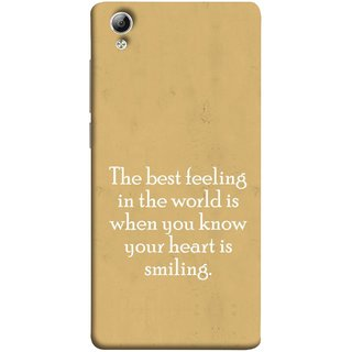 FUSON Designer Back Case Cover For Vivo Y51 :: Vivo Y51L (Heart Is Smiling Best Feeling In World Keep Smile)
