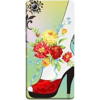 FUSON Designer Back Case Cover For Vivo Y51 :: Vivo Y51L (Nice Shoes Design Red Colour Womens Girls Females )