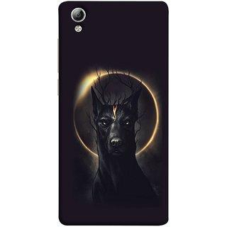 FUSON Designer Back Case Cover For Vivo Y51 :: Vivo Y51L (Doubles As An Aureola Suggesting The God Black Dog)