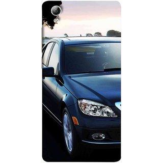 FUSON Designer Back Case Cover For Vivo Y51 :: Vivo Y51L (Road Black White Clouds Beautiful Road Blue Side Mirror)