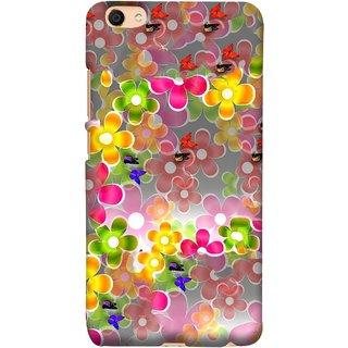 FUSON Designer Back Case Cover For Vivo Y55L :: Vivo Y55 (Butterflies Garden Trees Stars Bright Best Wallpaper)
