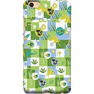 FUSON Designer Back Case Cover For Vivo Y55L :: Vivo Y55 (Pillow Bedsheet Designs Fish Grass Cat Yellow Flower Pattern)