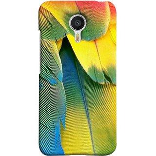 FUSON Designer Back Case Cover For YU Yunicorn :: YU Yunicorn YU5530 (Birds Feathers Parrot Peacock Best Back Cover )