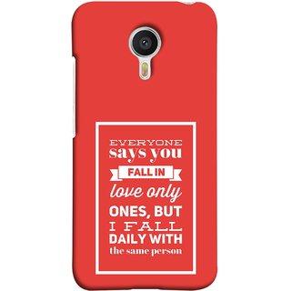 FUSON Designer Back Case Cover For YU Yunicorn :: YU Yunicorn YU5530 (Everyone Says You Fall In Love Only Once )