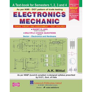 Electronic Mechanic Trade Theory  Assignments Solved Sem 1-4 - ENGLISH ITI ISBN 9788173177835