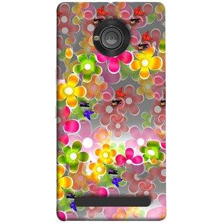 FUSON Designer Back Case Cover For YU Yunique (Butterflies Garden Trees Stars Bright Best Wallpaper)