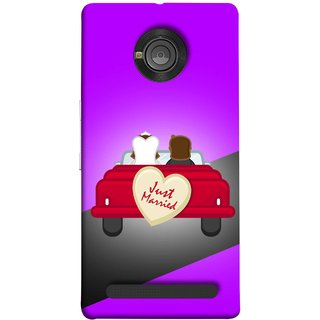 FUSON Designer Back Case Cover For YU Yuphoria :: YU Yuphoria YU5010 (Banner Boards Marriage Coulples Car Travel )