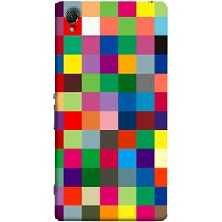 FUSON Designer Back Case Cover For Sony Xperia Z2 (5.2 Inches) (Triple Monitor Multi Multiple Screen Brique Cube)