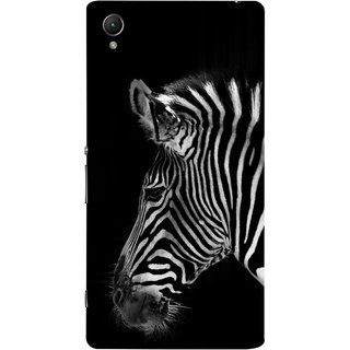 FUSON Designer Back Case Cover For Sony Xperia Z2 (5.2 Inches) (Close Up Portrait Of A Baby Zebra Long Ears Strips)