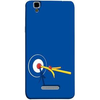 FUSON Designer Back Case Cover For YU Yureka :: YU Yureka AO5510 (Archery Targets Compound Bow And Arrow)
