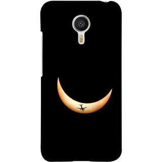 FUSON Designer Back Case Cover For YU Yunicorn :: YU Yunicorn YU5530 (Black Background Yellow Moon Beam Lovely Picture)