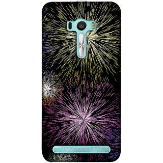 FUSON Designer Back Case Cover For Asus Zenfone 2 Laser ZE601KL (6 Inches) (Dark Night Fireworks Diwali Dipawali Flowers )