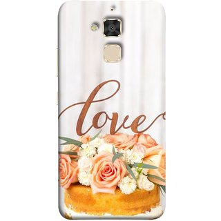 FUSON Designer Back Case Cover For Asus Zenfone 3 Max ZC520TL (5.2 Inches) (Cake Pink Rose Birthday & Decoration Ceremony Lily)