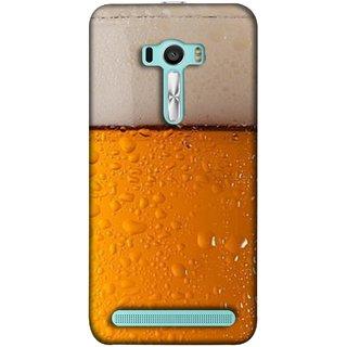 FUSON Designer Back Case Cover For Asus Zenfone 2 Laser ZE601KL (6 Inches) (Cold Chilled Beer Glass Tub Pint Bubbles Full)