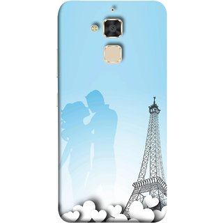 FUSON Designer Back Case Cover For Asus Zenfone 3 Max ZC520TL (5.2 Inches) (Eiffel Tower True Love Couples Kisses Sky )