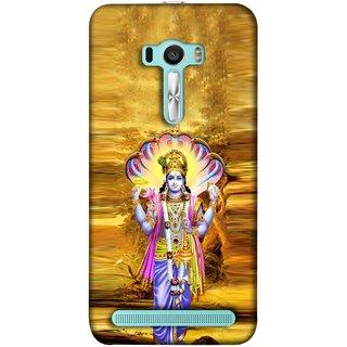 FUSON Designer Back Case Cover For Asus Zenfone 2 Laser ZE601KL (6 Inches) (Krishna With Murli Sheshnag Morpankh Lotus Makhanchor)