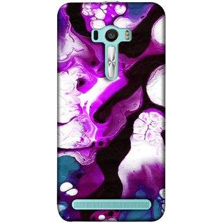 FUSON Designer Back Case Cover For Asus Zenfone 2 Laser ZE601KL (6 Inches) (Purple Painting Wallpaper White Iceberg River Flow)