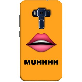 FUSON Designer Back Case Cover For Asus Zenfone 3 Deluxe ZS570KL (5.7 Inches) (Red Lips Pinky Flying Kisses Girl Lovers Couples Hot)
