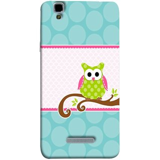 FUSON Designer Back Case Cover For YU Yureka :: YU Yureka AO5510 (Birds Sitting Alone Waiting For Partner Leaves Leaf)