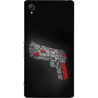 FUSON Designer Back Case Cover For Sony Xperia Z2 (5.2 Inches) (My Name Is The God Upon Thee Evil New Strike Down)