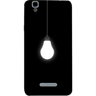 FUSON Designer Back Case Cover For YU Yureka :: YU Yureka AO5510 (Hanging Light Bulb In Dark Room Ceiling Darkness )