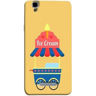 FUSON Designer Back Case Cover For YU Yureka :: YU Yureka AO5510 (Ice Cone Pineapple Flavour Wheels Hearts Shade )