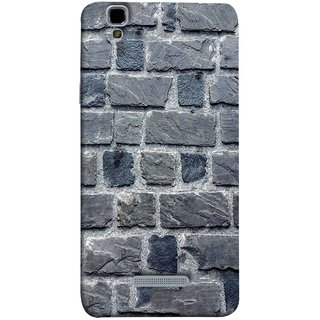 FUSON Designer Back Case Cover For YU Yureka :: YU Yureka AO5510 (Irregular Shapes Cement Ancient Different Sizes Wall)