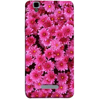 FUSON Designer Back Case Cover For YU Yureka :: YU Yureka AO5510 (Thousands Flowers Magenta Mums Nature Pink)