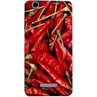 FUSON Designer Back Case Cover For YU Yureka :: YU Yureka AO5510 (India Business Hot Sauces Farm Fresh Pickles Kitchen)