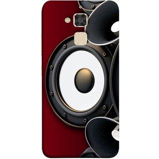 FUSON Designer Back Case Cover For Asus Zenfone 3 Max ZC520TL (5.2 Inches) (Black Speaker Music Listen Youth Boys)
