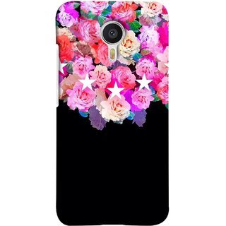 FUSON Designer Back Case Cover For YU Yunicorn :: YU Yunicorn YU5530 ( Background Shining Flowers Floral Patterns With Stars)