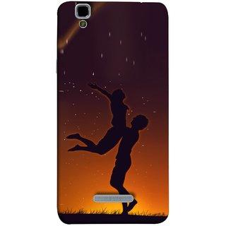 FUSON Designer Back Case Cover For YU Yureka Plus :: Yu Yureka Plus YU5510A (Milky Way Stars Love Couples Lovers Family Love)