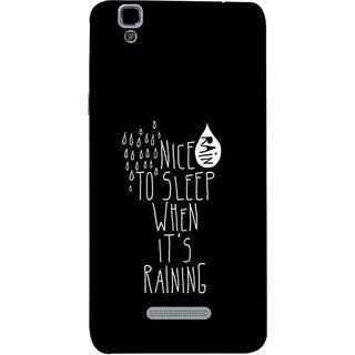 FUSON Designer Back Case Cover For YU Yureka :: YU Yureka AO5510 (Raining Raindrops Rainy Season Weather Baarish Snacks Drink)