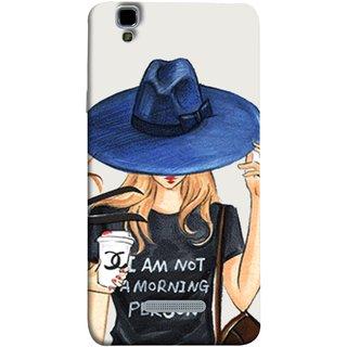 FUSON Designer Back Case Cover For YU Yureka :: YU Yureka AO5510 (Retro Fashion.Summer Hat With Large Brim Coffee Cup)