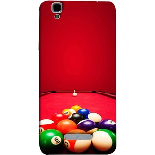 FUSON Designer Back Case Cover For YU Yureka :: YU Yureka AO5510 (Billards Pool Game Color Balls In Triangle Aiming)