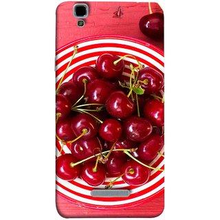FUSON Designer Back Case Cover For YU Yureka Plus :: Yu Yureka Plus YU5510A (Plump Dark Red Farm Fresh Very Tasty )