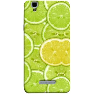 FUSON Designer Back Case Cover For YU Yureka :: YU Yureka AO5510 (Lemon Lime Sweet Agriculture Farm Fresh Cut Cell)