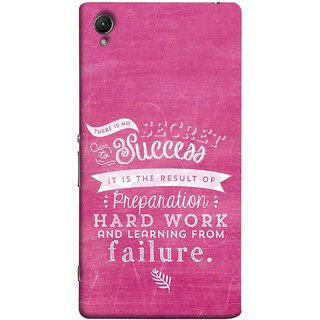 FUSON Designer Back Case Cover For Sony Xperia Z2 (5.2 Inches) (Result Of Preparation Hard Work Learning From Failure)