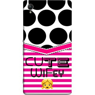 FUSON Designer Back Case Cover For Sony Xperia Z2 (5.2 Inches) (Beautiful Wife Husband Nice Couples Pink Design Paper)