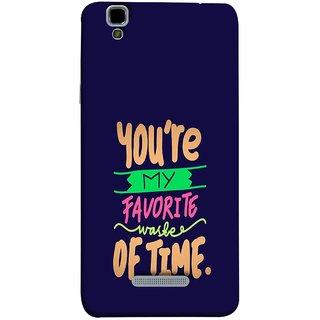 FUSON Designer Back Case Cover For YU Yureka Plus :: Yu Yureka Plus YU5510A (Blue Background Best Friends Always Together)