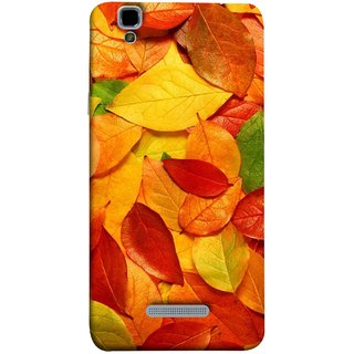 FUSON Designer Back Case Cover For YU Yureka :: YU Yureka AO5510 (Multicolour Dry Leaves Painting Bright Sunny Day )