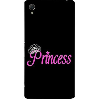 FUSON Designer Back Case Cover For Sony Xperia Z2 (5.2 Inches) (Silver Crown Of Princess Prince King Baby Pink)