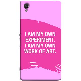 FUSON Designer Back Case Cover For Sony Xperia Z2 (5.2 Inches) (I Am My Own Work Of Art Madonna Ciccone Quotes)