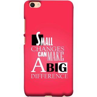 FUSON Designer Back Case Cover For Vivo Y55L :: Vivo Y55 (Chote Chote Badlav Bada Farak Best Quotes Sayings)