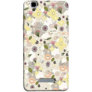 FUSON Designer Back Case Cover For YU Yureka :: YU Yureka AO5510 (Elegant Gentle Trendy Pattern In Small Scale Flower)