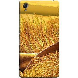 FUSON Designer Back Case Cover For Sony Xperia Z2 (5.2 Inches) (Wheat Farmers Farms Morning Sunlight Bright Day)