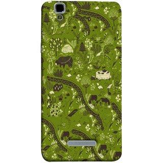 FUSON Designer Back Case Cover For YU Yureka :: YU Yureka AO5510 (Green Grass Cow Mushrooms Leaves Branches )