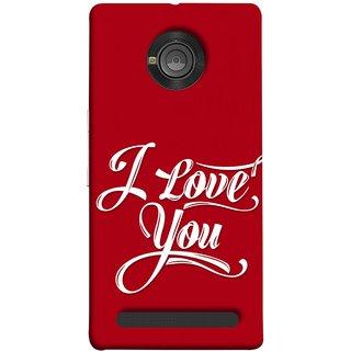 FUSON Designer Back Case Cover For YU Yuphoria :: YU Yuphoria YU5010 (I Love You Always Lovers Valentine Hearts Kiss )
